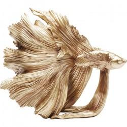 KARE DESIGN Betta guldfisk - guldfarvet polyserin