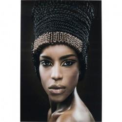 Kare Design Billede, Glass Royal Headdress Face 150 x 100 cm