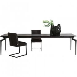 KARE DESIGN Bug spisebord - brunt genbrugstræ/stål (200x90)