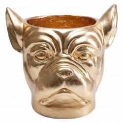 KARE DESIGN Bulldog Gold dekorationsurtepotte - guld fiberglas