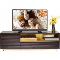 KARE DESIGN Casino Lounge TV-bord - brunt/guld mangotræ, m. 2 låger