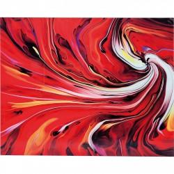 KARE DESIGN Chaos Fire Plakat - Glas, (150x120cm)