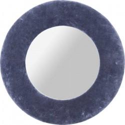 KARE DESIGN Cherry spejl - grå bomuld og spejlglas, rundt (Ø:80)