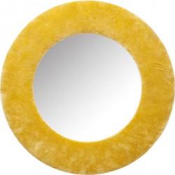KARE DESIGN Cherry spejl - gult bomuld og spejlglas, rundt (Ø:80)