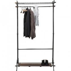 KARE DESIGN Cosmopolitan garderobestativ - sort metal og træ, m. 2 hylder og 12 bøjler