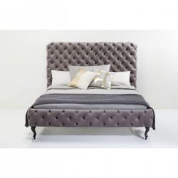 KARE DESIGN Desire Silver Grey High sengeramme - grå polyester/massiv bøg (180x200)