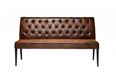 KARE DESIGN Econo vintage sofabænk - brunt læder PU