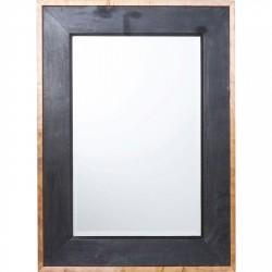 KARE DESIGN Fence vægspejl - spejlglas og kobber/sort træ (122x91)