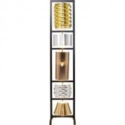 KARE DESIGN Gulvlampe Parecchi Glamour Sort Lille 186 cm