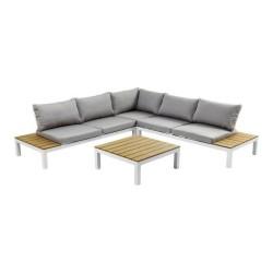 KARE DESIGN Holiday sofa havesæt - grå stof og hvid aluminium