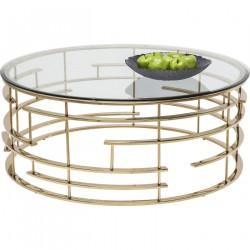 KARE DESIGN Jupiter sofabord - glas/guld stål, rundt (Ø100)