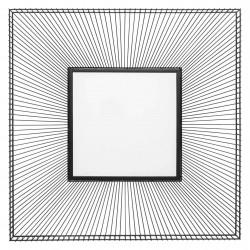 KARE DESIGN kvadratisk Dimension Square vægspejl - spejlglas og sort stål (91x91)