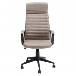 KARE DESIGN Labora High Pebble kontorstol, m. armlæn - grå polyester og stål