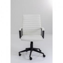KARE DESIGN Labora kontorstol, m. armlæn - hvid polyester og polyamid nylon/stål