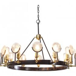 KARE DESIGN Lighthouse Twelve loftlampe - guld/brunt stål og glas