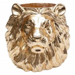 KARE DESIGN Lion Gold dekorationsurtepotte - guld fiberglas