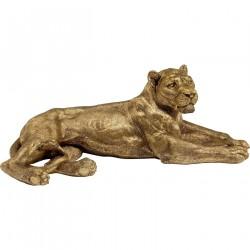 KARE DESIGN løve figur - guld polyresin, håndlavet