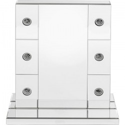 KARE DESIGN Make Up Stripes bordspejl - spejlglas (56x45)