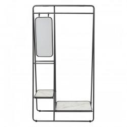 KARE DESIGN Mirror garderobestativ m. spejl og 2 hylder - spejlglas og stål
