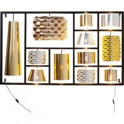 KARE DESIGN Parecchi Glamour Black Big væglampe - guld/sølv/bronze plastik og sort stål