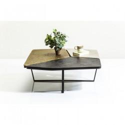 KARE DESIGN Patches sofabord - bronze/guld/sølv aluminium (103x102)