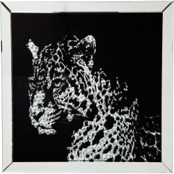 KARE DESIGN Plakat, Mirror Leopard - Multifarvet, m. ramme, (80x80cm)