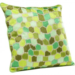 Kare Design Pude, Green Ornaments 60x60cm