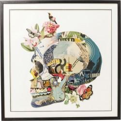 "KARE DESIGN ""Frame Art Skull"" billede - multifarvet, m. sort ramme (100x100)"