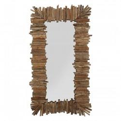 KARE DESIGN rektangulær Ciocchi vægspejl - spejlglas og natur genbrugstræ (195x105)