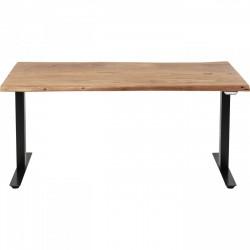 KARE DESIGN rektangulær Harmony Black hævesænkebord - natur akacietræ og sort stål (160x80)