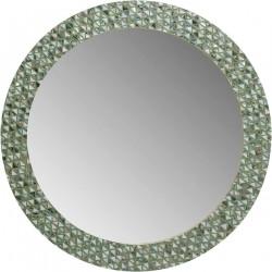 KARE DESIGN rund Pierrot vægspejl - spejlglas og multifarvet muslinge perler (Ø100)