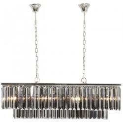 KARE DESIGN Smoky Lounge Rectangular loftlampe - farvet krystalglas/sølv stål
