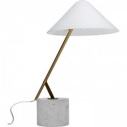 KARE DESIGN Soul Marble bordlampe - hvid glas, marmor og messing stål (H:54cm)