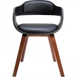 Kare Design Stol med armlæn, Costa Walnut