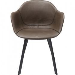 Kare Design Stol med armlæn Lounge - Grå