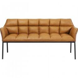 KARE DESIGN Thinktank Brown sofabænk - brunt kunstlæder/stål, m. armlæn