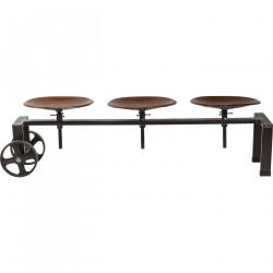 KARE DESIGN Tractor bænk - brunt læder og sort jern
