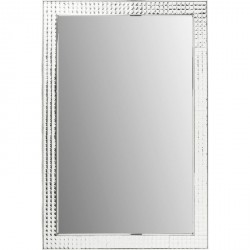 KARE DESIGN Vægspejl Crystals Steel Chrome 120 x 80 cm