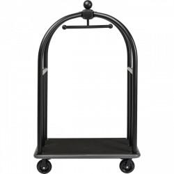 KARE DESIGN VIP Vegas Matt Black trolley, m. hjul - sort stål og MDF