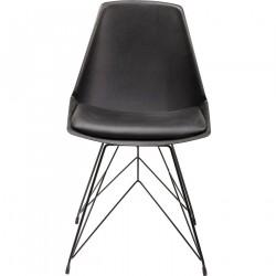 KARE DESIGN Wire spisebordsstol - sort kunstlæder og plast