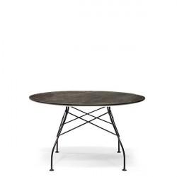 Kartell Glossy Marble spisebord - Aged bronze - Ben i sort