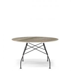 Kartell Glossy Marble spisebord - Tropical Grey - Ben i sort