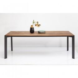 KASE DESIGN Phoenix spisebord - natur eg/stål (220x100)