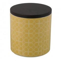 Keramik krukke (gul/hvid)