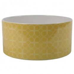 Keramik skÅl (gul/hvid)