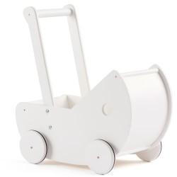 Kids Concept dukkevogn i træ - Hvid