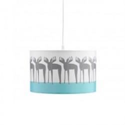 Kids Concept loftlampe - Edvin - Hvid med print