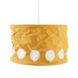 Kids Concept loftlampe - Gul/hvid