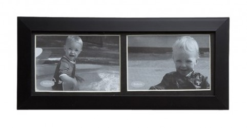 KJ Collection Fotoramme - PP - Glas - Sort - L 21,5cm - B 9,0cm - Stk.
