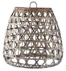 KJ Collection Lampeskærm - t. ophæng - Træ - Grå - D 42,0cm - H 43,0cm - B 46,0cm - Stk.